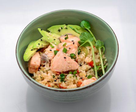 Рис з лососем